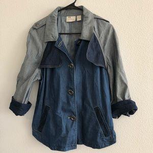 Chico's Denim Jacket Women's Large 12